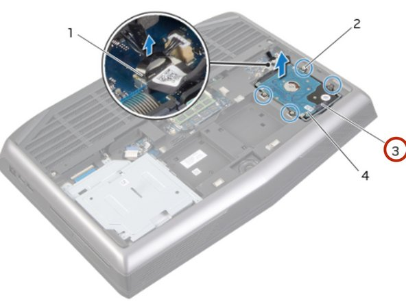 Using the pull-tab, lift the hard-drive  assembly out of the computer base.