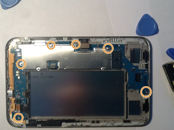 remove the motherboard screws as shown