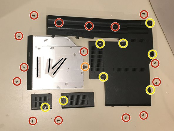 Here is what my layout of my screws and panels looks like so far