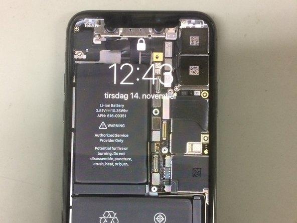 Reemplazo de la tarjeta SIM X del iPhone X