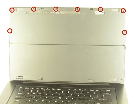 Open the laptop and rotate the screen to the back side.