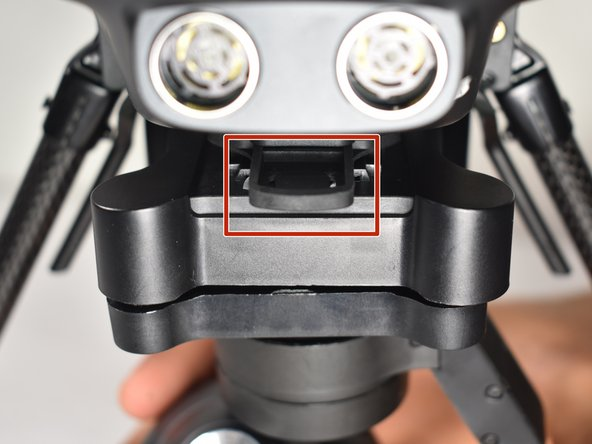 In order to repair the camera and camera gimbal, remove the camera configuration from the body of the drone.