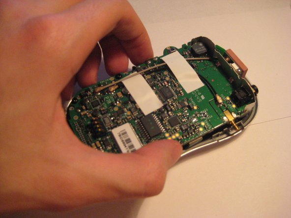 After removing the screws and two external pieces, the PCB Logic Board can be removed from the front piece.