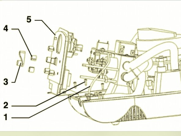 """Now remove the """"Inhale flow"""" control knob (4) and """"Inhale pressure"""" knob (4), by loosening the setscrew on each before pulling off.  If you have a CM model, carefully remove the Manual Control Lever (3) by prying it off with the screwdriver. (Page 3)."""