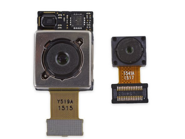 The complexity of the rear-facing camera and its image stabilization is even more apparent under X-ray. That frame! Those chips!