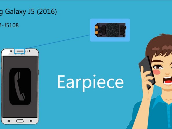 How to repair the earpiece of Samsung Galaxy J5 (2016)