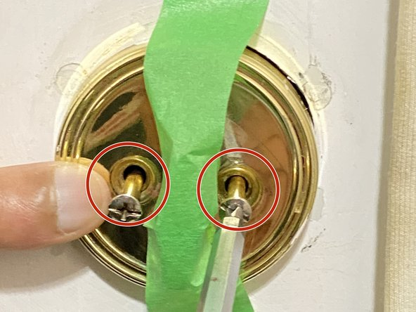 Use your Phillips #0 screwdriver to remove the two 70 mm pan head screws on the side that holds the lock in place.