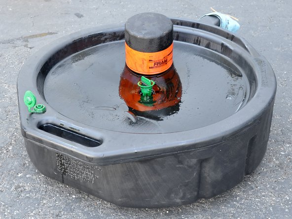 Start the truck and look for leaks underneath it. If there are leaks, shut the truck off and determine if the drain plug or filter need to be tightened, or if a part has been damaged.