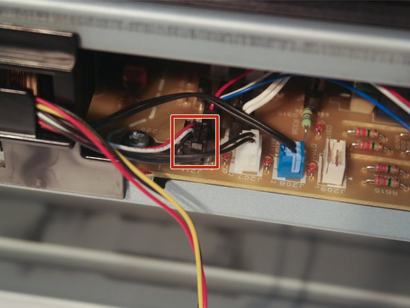 Disconnect the duplexer cable from the control board.