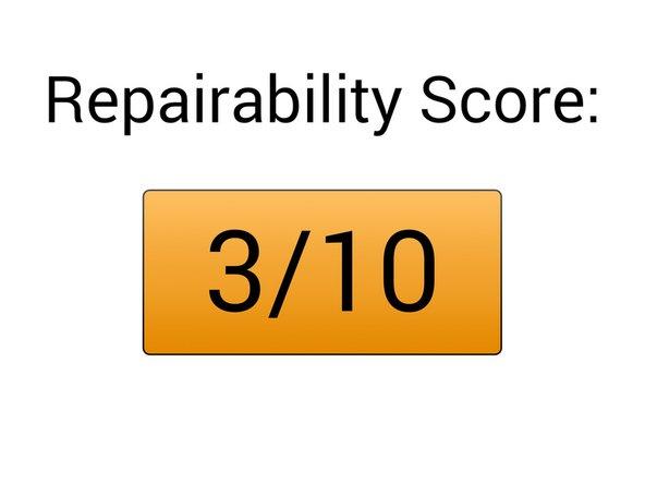 Repairability Score: 3/10