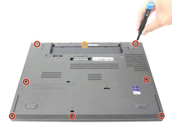 Using the JIS #00 screwdriver, unscrew seven screws from the back cover.