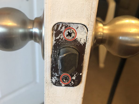 Examine the faceplate, checking for any loose screws like you did with your door hinges.