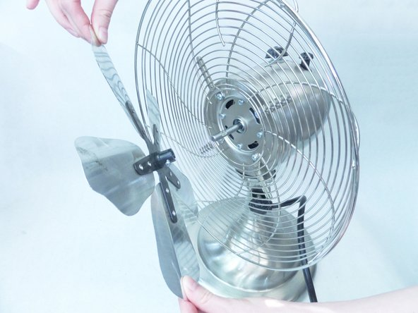 Take caution when removing the fan blades. They can be sharp!