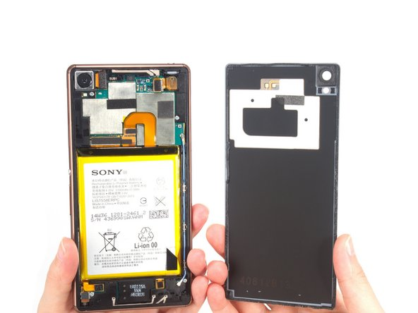 Remove back cover. It comes with the NFC.