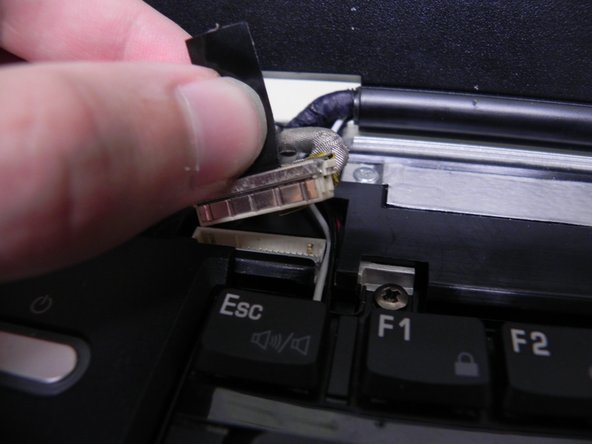 Gently pull up on the display's video connector to remove it.