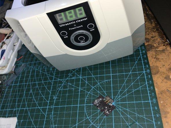 先用超声波清机,配合PCB洗板水,试试看能否挽救