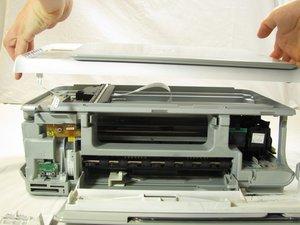 HP Photosmart c3180 obere Abdeckung entfernen