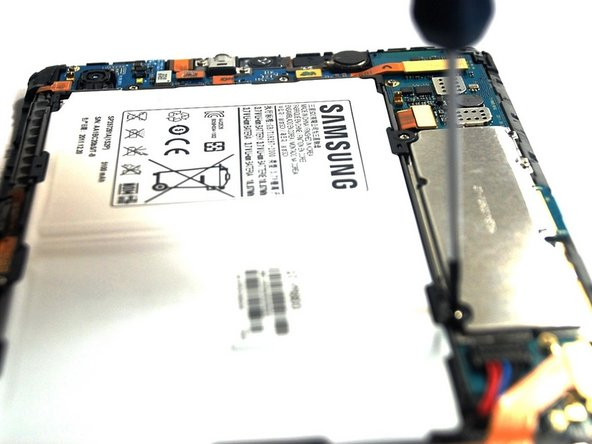 Remove the 6 screws securing battery.