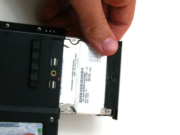 Pull the Hard Drive out and proceed with replacement.