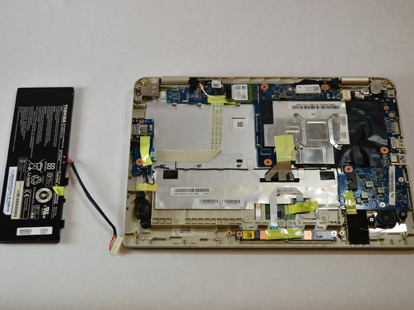 Carefully unplug the battery from the device motherboard.