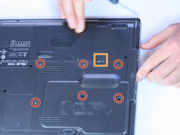 Use the Phillips #0 to remove the six screws on the back of the device.