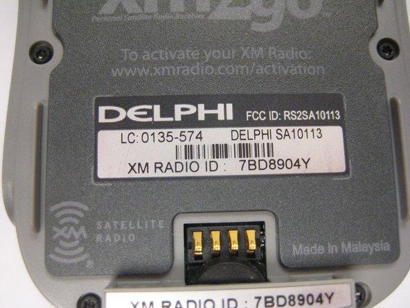 Identifying Delphi MyFi XM2GO Device Number