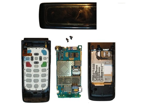 You have now removed the logic board from your Nokia 6555b.