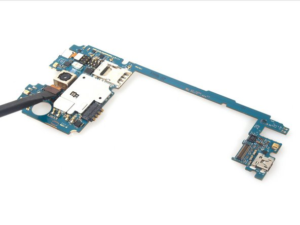 Remove rear camera from motherboard.