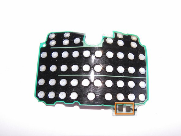 When you replace the keyboard membrane,  align the two contacts at bottom.