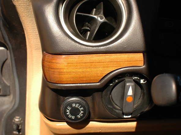 And here is the good used wood trim, crack free, installed in the car.