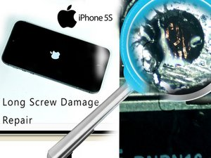 How to resolve bootloop problem (long screw damage) iPhone 5s