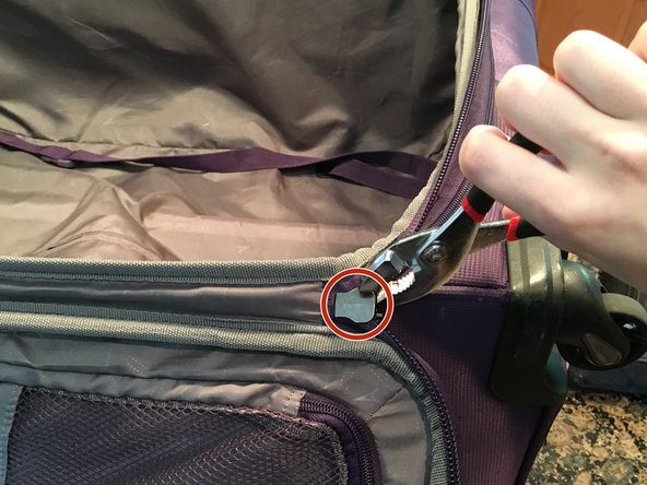 Dismantle the current, broken zipper on the slider. To do this, you'll need to use pliers. Apply pressure vertically to pry the zipper away from the teeth of the slider.