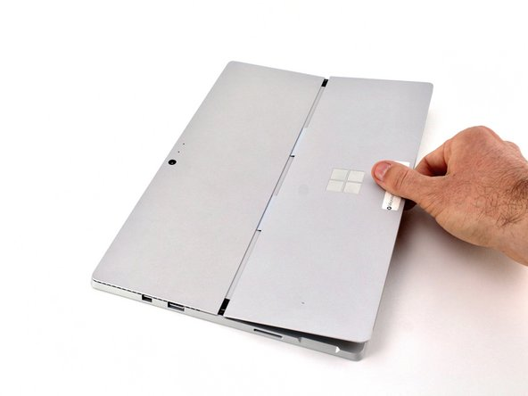 Remove the kickstand from the back cover.