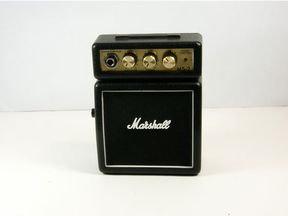 Disassembling Marshall MS-2 Micro Amp Case Disassembly