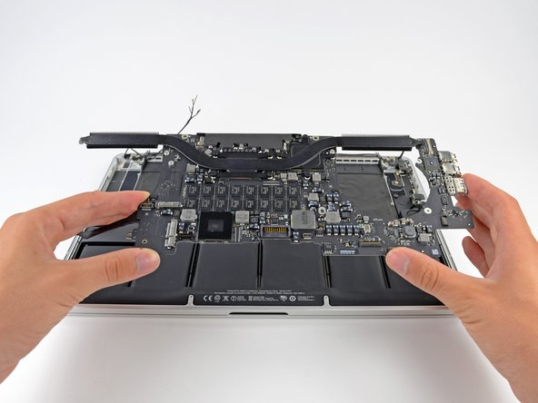 Remove the logic board assembly from the MacBook Pro.