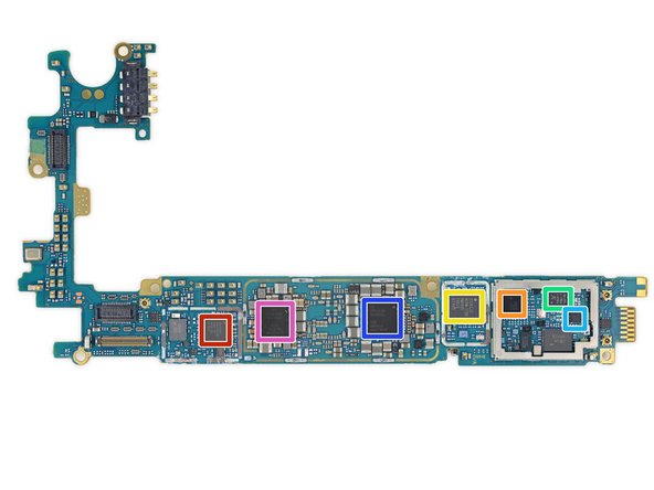 More chip goodness on the rear of the motherboard:
