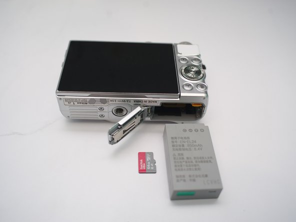 Remove Micro SD card and Battery