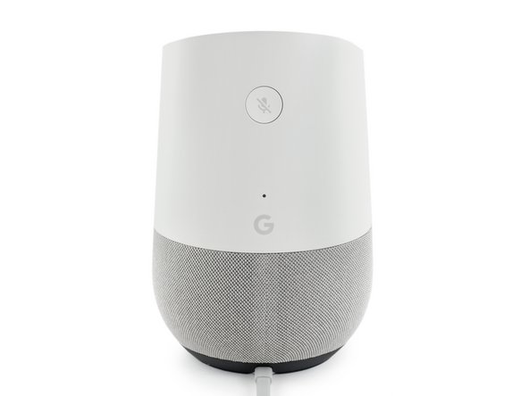 这款智能音箱的外观设计来源于空气净化器,我们为Google Home 的麦克风准备了一个 LED 指示按钮。