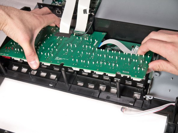 Remove the mother board completely from the face plate and identify the broken potentiometer.