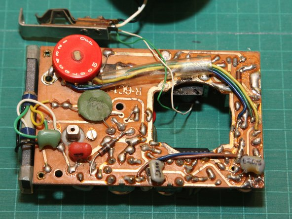 Here's a closeup of the solder-side of the circuit board.