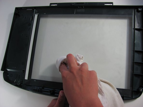 Turn the scanner glass over so its underside is facing upward.