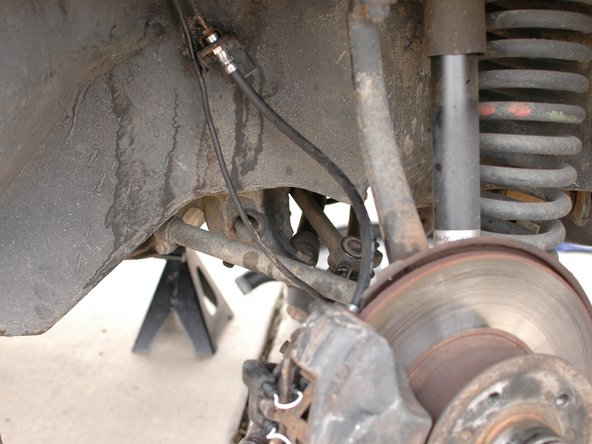 Re-attach the brake hoses, starting at the calipers and then attaching them to the hard lines.