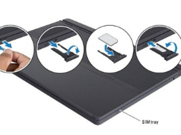 Turn over the SIM tray and replace it into the slot.
