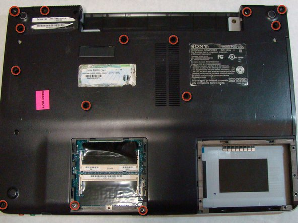 Sony Vaio PCG-7A2L Back Cover Replacement