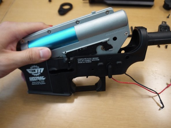 Make sure that the selector is set to semi-auto, and place the gearbox back into the lower receiver.