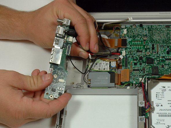 Disconnect the power cable from the DC & sound card board.
