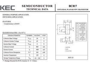 Transistor BC817