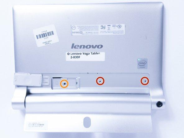 Retirez les deux vis de 3 mm à l'arrière de l'appareil avec le foret Phillips Screwdriver # 00.
