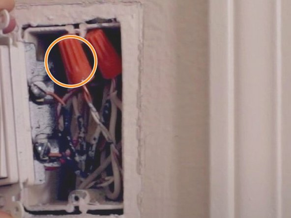 You will find there are one or two wires left in the outlet box.
