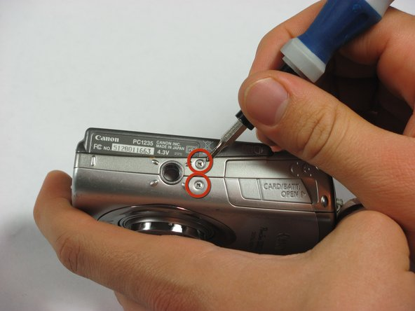 Disassembling Canon PowerShot SD850 IS Case Removal